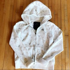 NEARLY NEW AMERICAN EAGLE ZIPPERED HOODIE